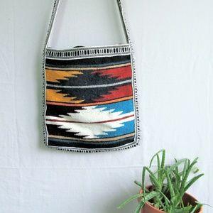 Ecuador shoulder satchel handwoven wool bag